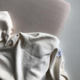 Fijn gebreide deken Wolkenwit