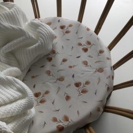 Grof gebreide deken Wit