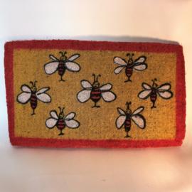Deurmat vierkant met bijen