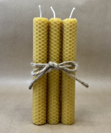 Bijenwas kaars 3 stuks