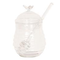 Honingpot met lepel ø 8*12 cm Transparant