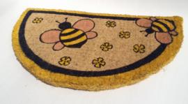 Deurmat halfrond met bijen.