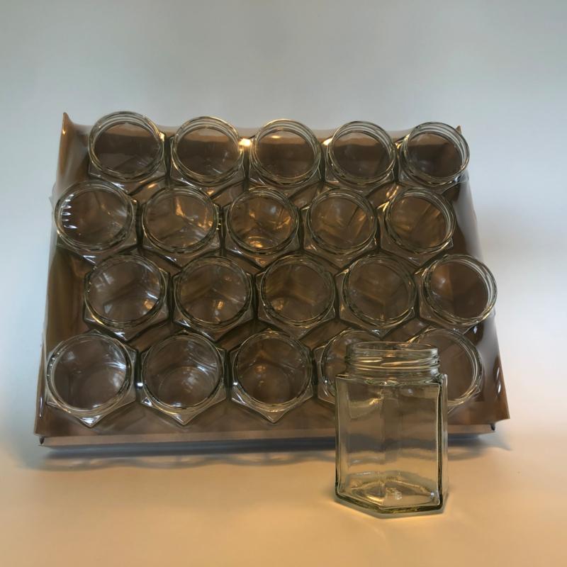 Hexagonale potten, 290 ml/ 350 gram, per 20 stuks