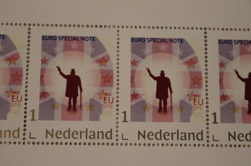 's Werelds eerste Brexit postzegels