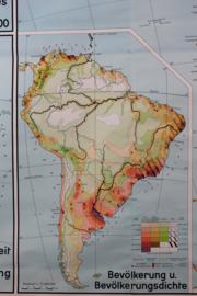 Supergrote schoolplaat van Zuid Amerika