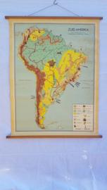 Schoolplaat Zuid Amerika