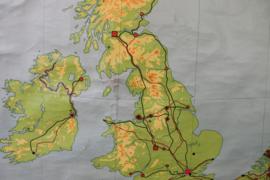 Schoolplaat Groot Brittanie en Ierland