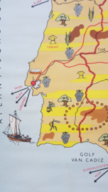 Schoolplaat Spanje en Portugal