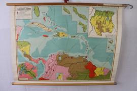 Schoolplaat van het caraibisch gebied