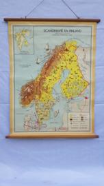 Schoolplaat van Scandinavië en Finland