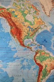Schoolplaat Noord en Zuid Amerika