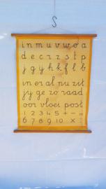 schoolplaat Letterkaart