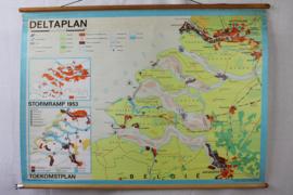 Schoolkaart Zeelland / Deltaplan