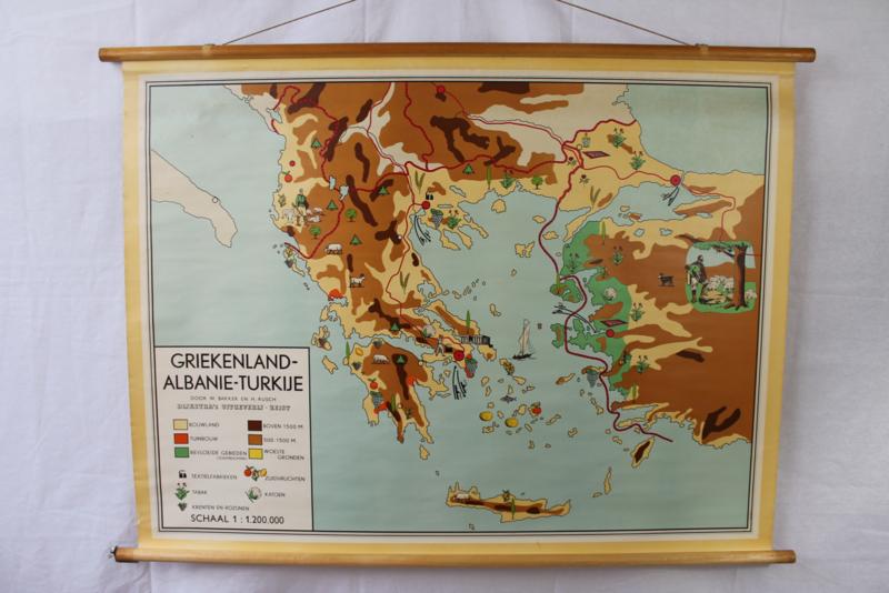 Schoolplaat Griekenland, Albanië en Turkije