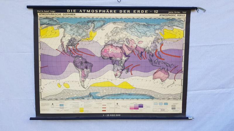 Schoolplaat de atmosfeer van de aarde