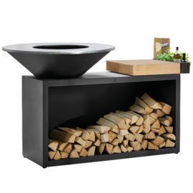 Ofyr  Island Black Rubberwood 100-100