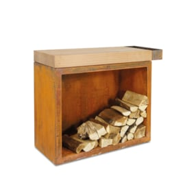 Butcher Block Storage Rubberwood 45-90-88