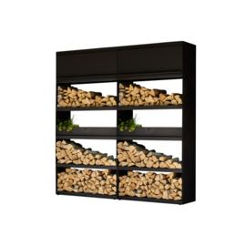 Wood Storage Black 200