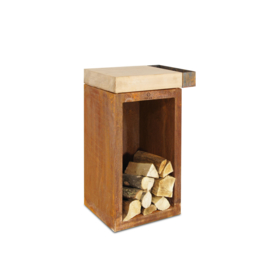 Butcher Block Storage Rubberwood 45-45-88