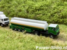 Mercedes-Benz NG, Tractor & Tanktrailer, Groen (Kant & Klaar)
