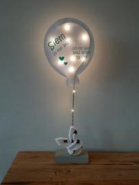 Gebaorteballon groot wit (mit lempkes)