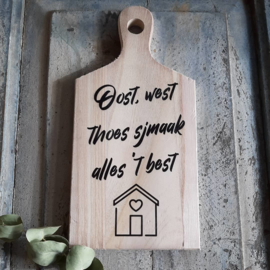 Plank, oost west