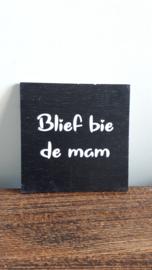 Blief bie de mam (zjwart)
