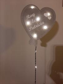 Gebaorteballon groot hart zilver (mit lempkes)