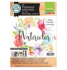 Florence Water Color Paper 300 gram, Off-White A4 (2911-0003)
