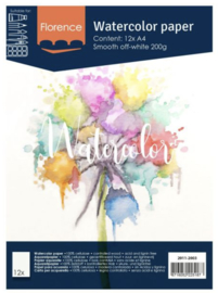 Florence Water Color Paper 200 gram, Off-White A4 (2911-2003)