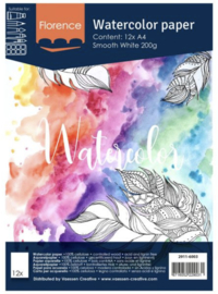 Florence Water Color Paper 200 gram, Intense White A4 (2911-6003)