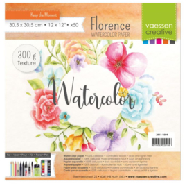 "Florence Water Color Paper 300 gram. Off-White 12 x 12"" 50 vel"