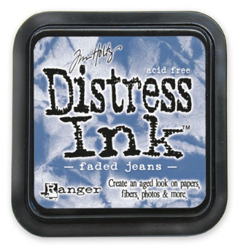Distress Inkt Faded Jeans