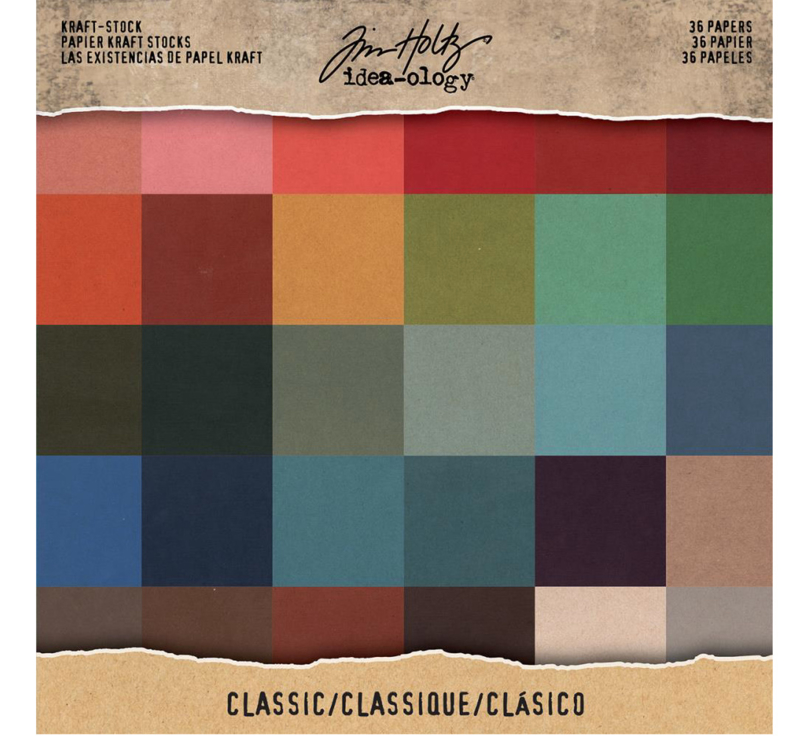 "Tim Holtz Idea-Ology Kraft-Core blok 12"" x 12"""