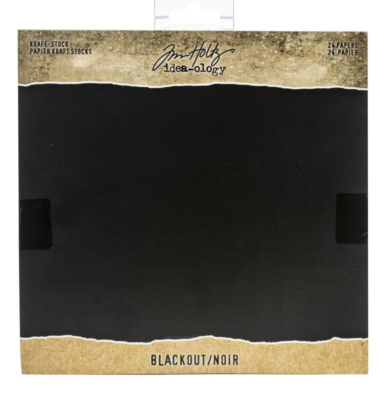 Tim Holtz Idea-Ology Kraft Stock Black Out