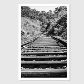 Train track in Sri Lanka