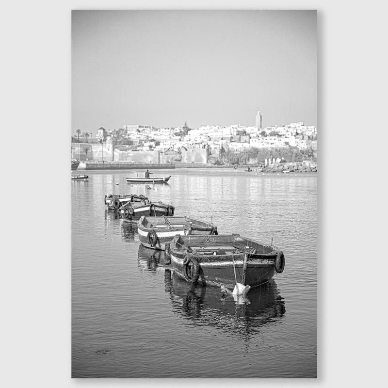 Marokko boot 2 zwart/wit