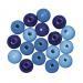 Houten Kralen Blauw tinten 16mm