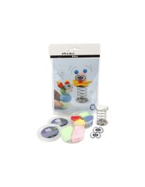 Mini Creatieve Set, , boetseren - clowns