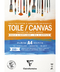 Blok Cosmos Canvas wit A4 10bl 200g - Wit