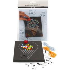 Mini Creatieve Set, , string art - ijsje
