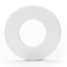 Plastic Bijtfiguur - Ring met Noppen - Wit