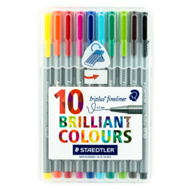 Staedtler - Fineliner - 10 Brilliant Colours