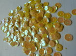 Pailletten Parelmoer Geel 5mm