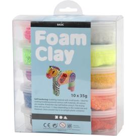 Foam Clay®, kleuren assorti, basis, 10x35gr