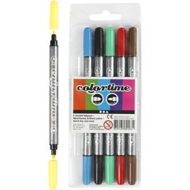 Colortime - Dubbelstift - 6stuks