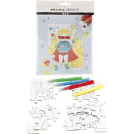 Mini Creatieve Set, puzzel - superheld