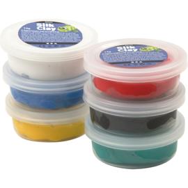 Silk Clay®, kleuren assorti, standaard, 6x14gr