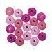 Houten Kralen Roze tinten 16mm