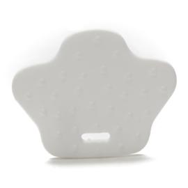 Plastic Bijtfiguur - Dierenpoot - Wit
